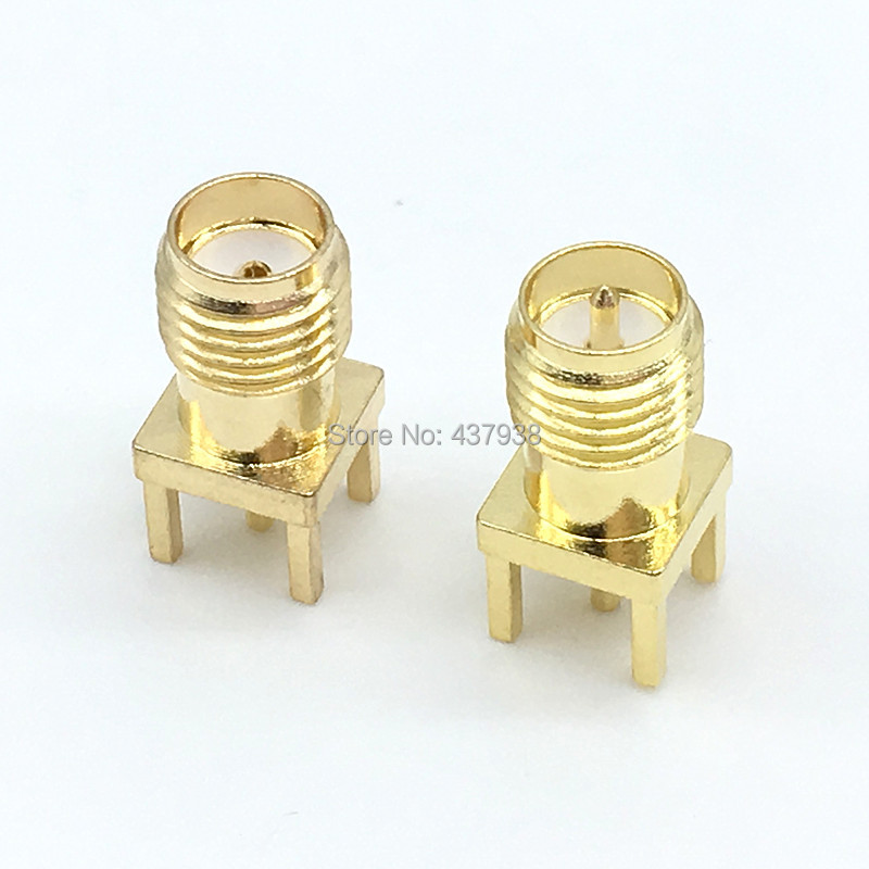 2/5/10Pcs SMA Female Male Jack Solder Nut Edge PCB Clip Straight Mount Gold Plated RF Connector Receptacle Solder