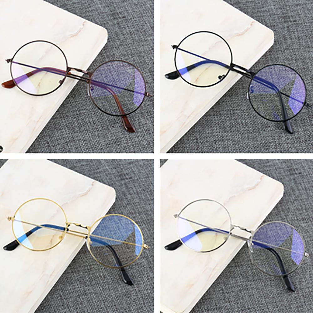 Retro okrągła oprawka anty-niebieskie okulary promieniowania Ultralight mężczyźni kobiety modne niebieskie światło okulary blokujące okulary studenci