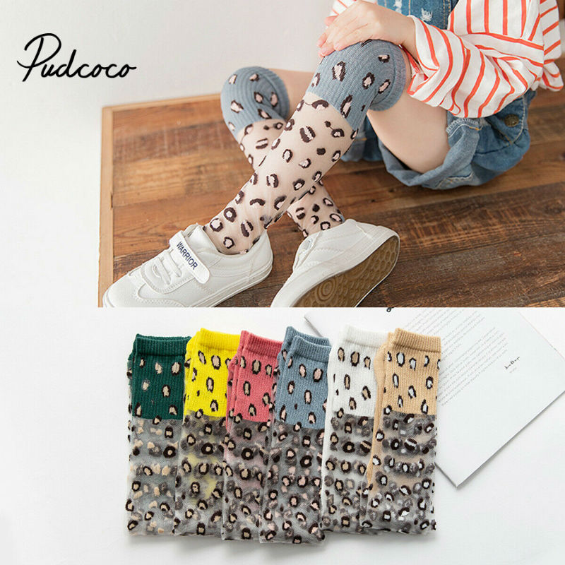 Pudcoco 2020 Spring Autumn Tights For Girls Children Leopard Pantyhose Cotton Girls Stockings Toddler Tights Kid Underwear 2-8T