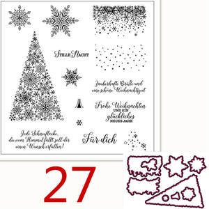 Christmas-Album Snow German Stamps/handmade Decorative-Production Silicone-Rubber Transparent