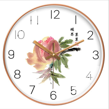 New 12 Inch Chinese Style Silent Clock Simple Personality Wall Clock Modern Design Living Room Clock Plastic Retro Wall Charts