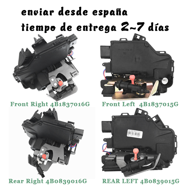 Front Rear Left Right Door Lock 4B1837015G 4B1837016G 4B0839015G 4B0839016G For Audi A6 4B C5 1998-2005