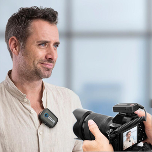 Image 2 - Saramonic Blink500 2.4GHz Çift Kanallı Kablosuz Mikrofon Sistemi ile Yaka Youtube röportaj Vlog Mic Kameralı cep Telefonları Için