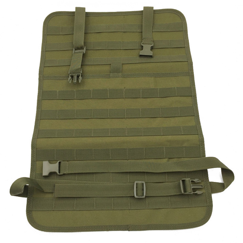 Universal Tactical MOLLE Car Seat Back Organizer Military MOLLE Panel Vehicle Seat Cover Protector Kit Mat Black -8