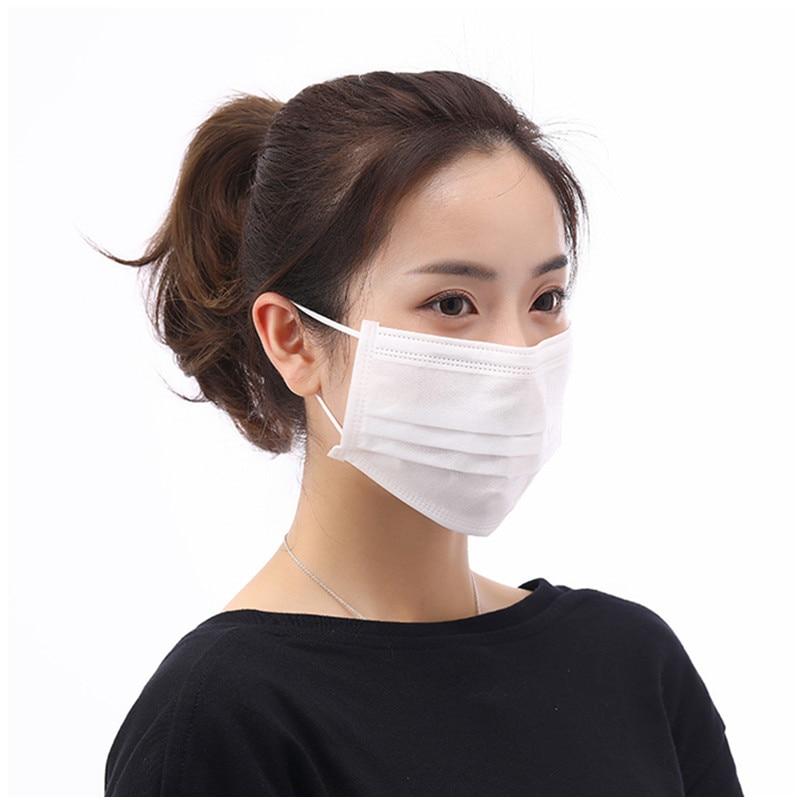 마스크 White Protection Bacterial Three Floors Filter Face Mouth Masks Unisex Office Hotel Safety Masks Mascarilla