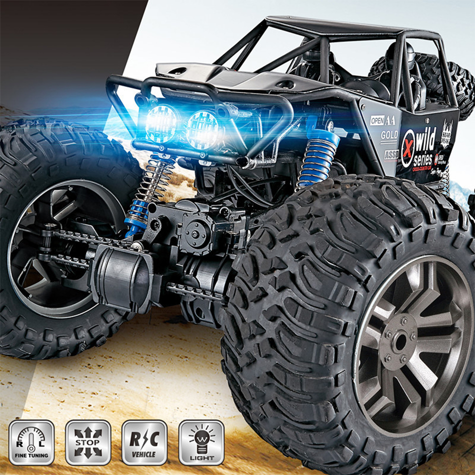 MGRC Large RC Car 1/8 2.4G 4WD High Speed 30KM/h Brush Crawler Remote Controller Car Toys for Children Boys Rc Wheel Machine