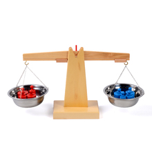 Baby Toy Montessori Wooden Balance Beam Weighing Scale Sensorial Early Childhood Education Preschool Training Great Gift 8pcs set baby montessori sensorial wooden toys blocks early childhood education preschool training kids toy gifts for children