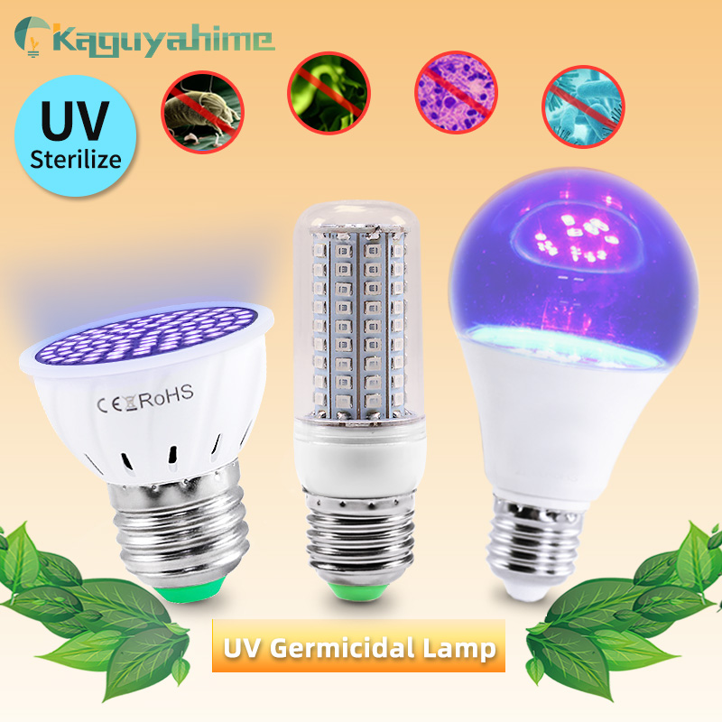Kaguyahime E27 LED Bulbs Corn Lights Indoor Disinfect Light LED Ozone Lights UV Germicidal Bulb E27 Spotlight Lampara Ampoule