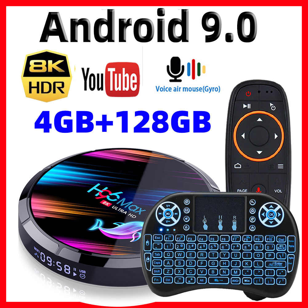 H96 Max X3 Smart Android Tv Box Android 9.0 Smart Box 8K Amlogic S905X3 4Gb 128G/64G/32G Rom 2.4G & 5G Wifi 1000M 4K Mediaspeler