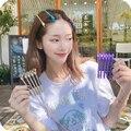 Южная Корея корни Пушистый клип, Не оставляющий следов надежный дизайн челки косметика для обучения Клип заколки женские заколки для волос ...