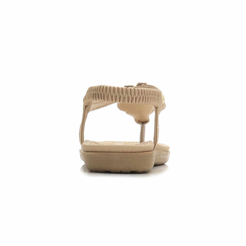 Sandalias planas de mujer HOVINGESummer zapatos mujer Casual Bohemia Cristal Flip flop Slingback mujer gladiador playa sandalias
