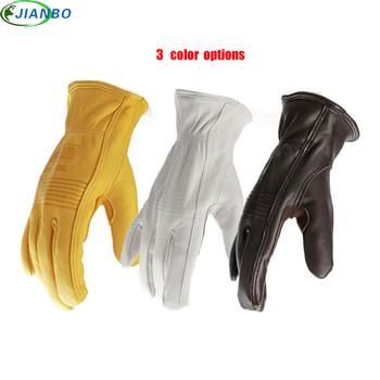 Site Motorcycle Gloves Cowhide Driver Security Protection Wear Safety Workers Welding Cutting Work Racing Garden Planting Gloves