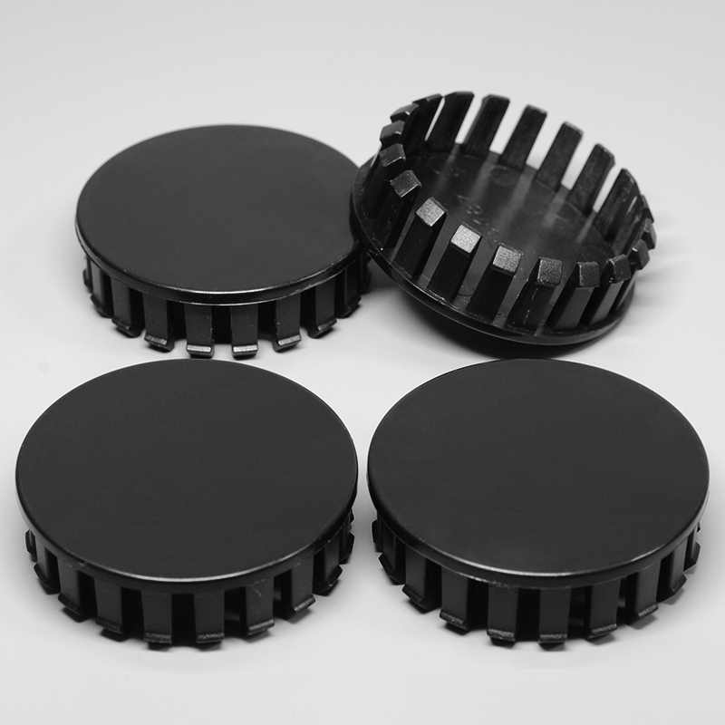 4Pcs 59mm/56mm Universal ABS Black Car Auto Wheel Center Hub Caps Cover Hubcaps Rim Automobile Dust-proof Wheel Hub Cover