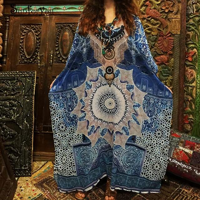 Γυναικείο φόρεμα καλοκαιρινό ριχτό για την παραλία σε μεγάλα μεγέθη