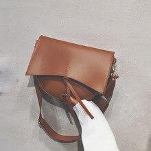 2019 Luxury Handbags Women Bags Designer Fashion Female Vintage Saddle PU Leather Wide Shoulder Strap Flip Messenger