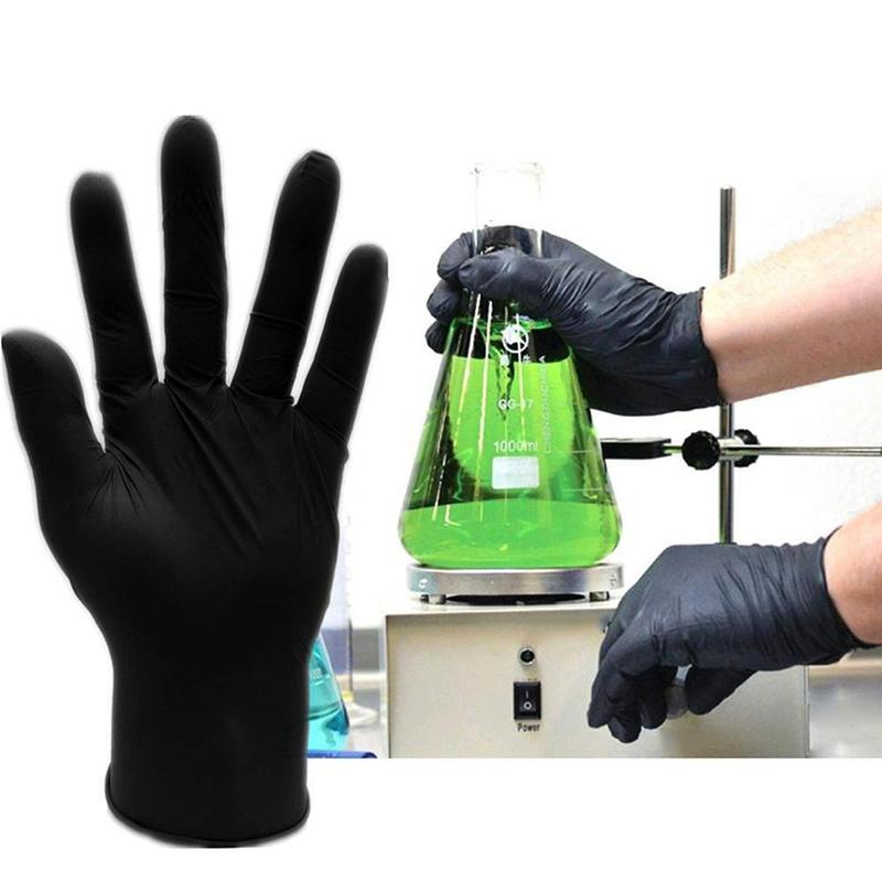 1 Pair Disposable Rubber Washing Gloves Mechanic Nitrile Gloves Black Dish Washing Gloves Guantes Para Lavar Platos