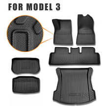 For Tesla Model 3 Car Floor Mat And Rear Trunk Mats Cargo Liner Rear Tray Trunk Floor Protective Mat hot car front trunk storage mat cargo tray trunk waterproof protective pads compatible for subaru xv forester outback 2019