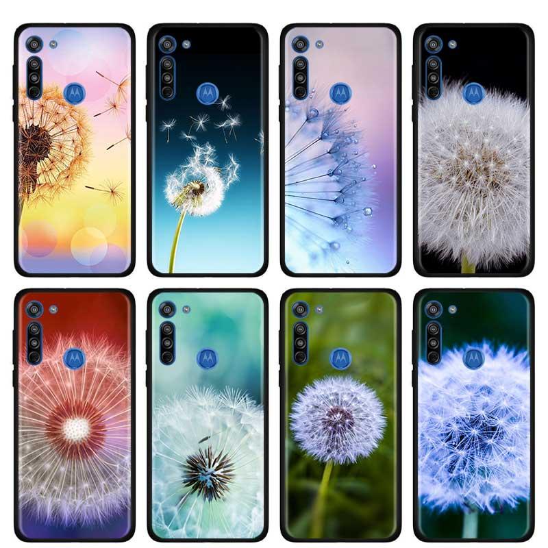 Dandelion Pink Flower Thin Case For Motorola G Style G8 Power Plus Play Lite One Hyper G Power E6s Edge Plus Phone Shell
