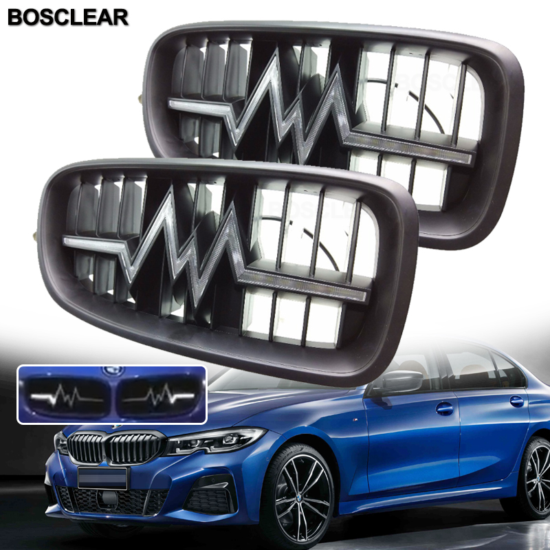 <font><b>Led</b></font> Illuminated Car Racing Grills Front Kidney Grilles For <font><b>BMW</b></font> E93 <font><b>F30</b></font> F31 F34 F35 F80 320i 328i 335i 2014 2015 2016 2017 2018 image