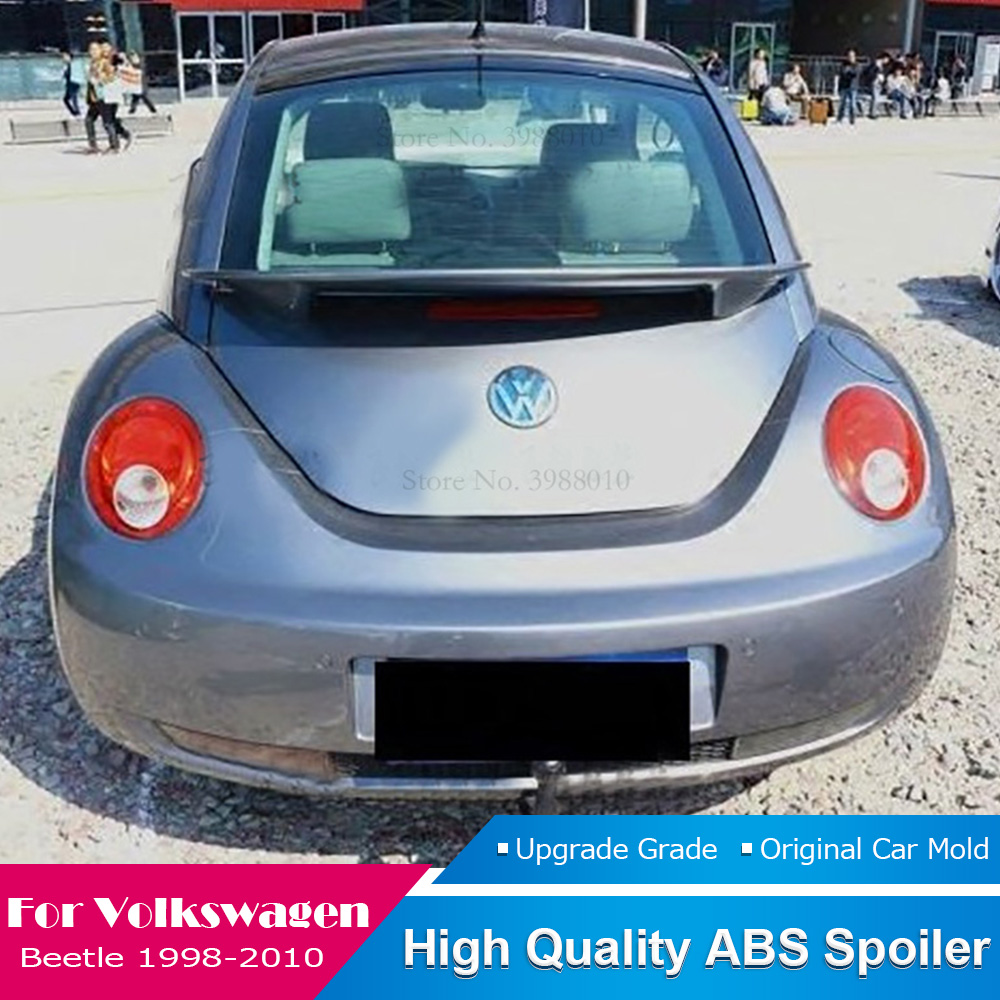 Подходит для Volkswagen Beetle 1998 до 2010 Черный спойлер FRP стекловолокно Неокрашенный задний спойлер на крышу