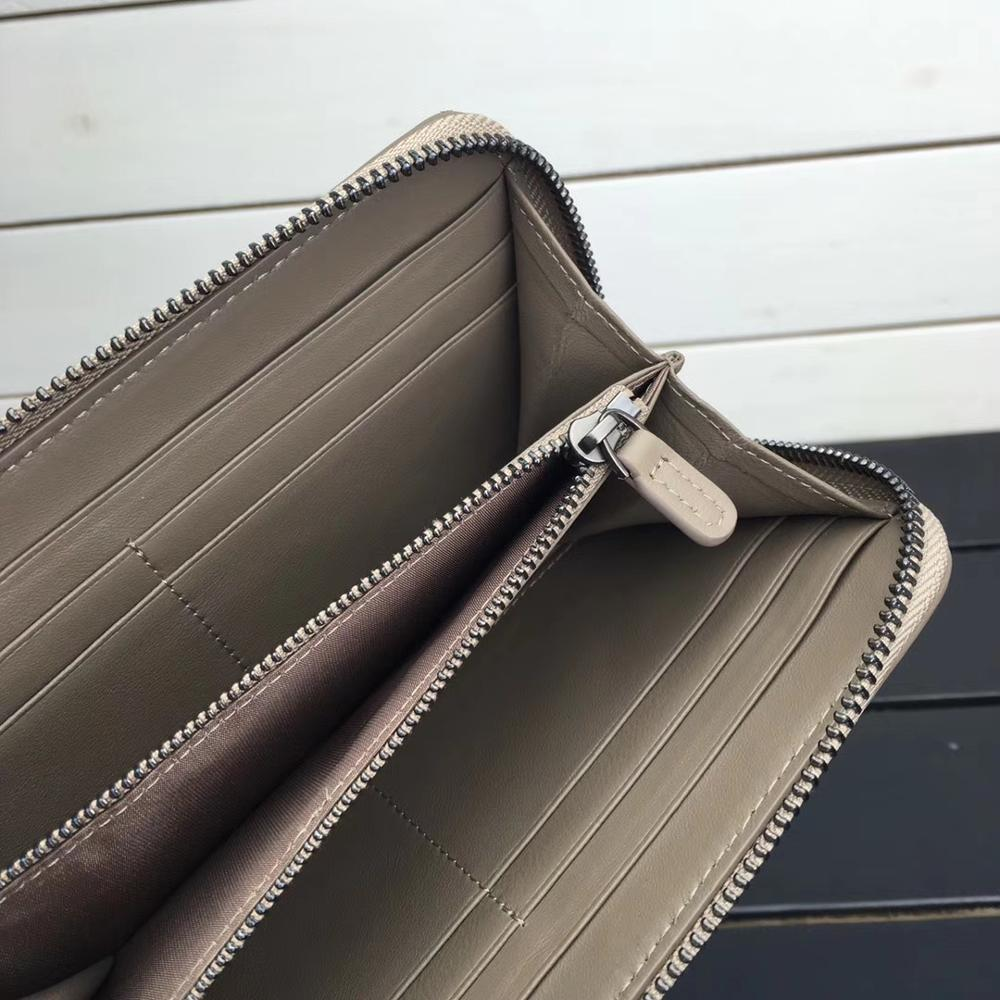 Купить с кэшбэком ISHARES Classic Sheepskin Weave Women Purse Genuine Leather Long Zipper Handmade Lady Fashion Lambskin Soft Wallets IS1316