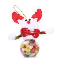 Новейшая Рождественская банка для конфет Рождественский Санта Клаус/Снеговик/лось украшения для упаковки