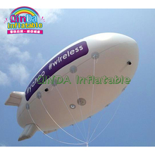 ПВХ надувной дирижабль для рекламы надувной гелиевый дирижабль, надувной blimp для продажи