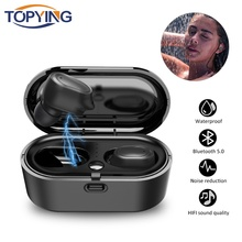 TOPYING Mini Twins earphones wireless bluetooth 5 Wireless Headphone Sport Earbuds With Dual Mic For Phones Xiaomi Huawei iPhone