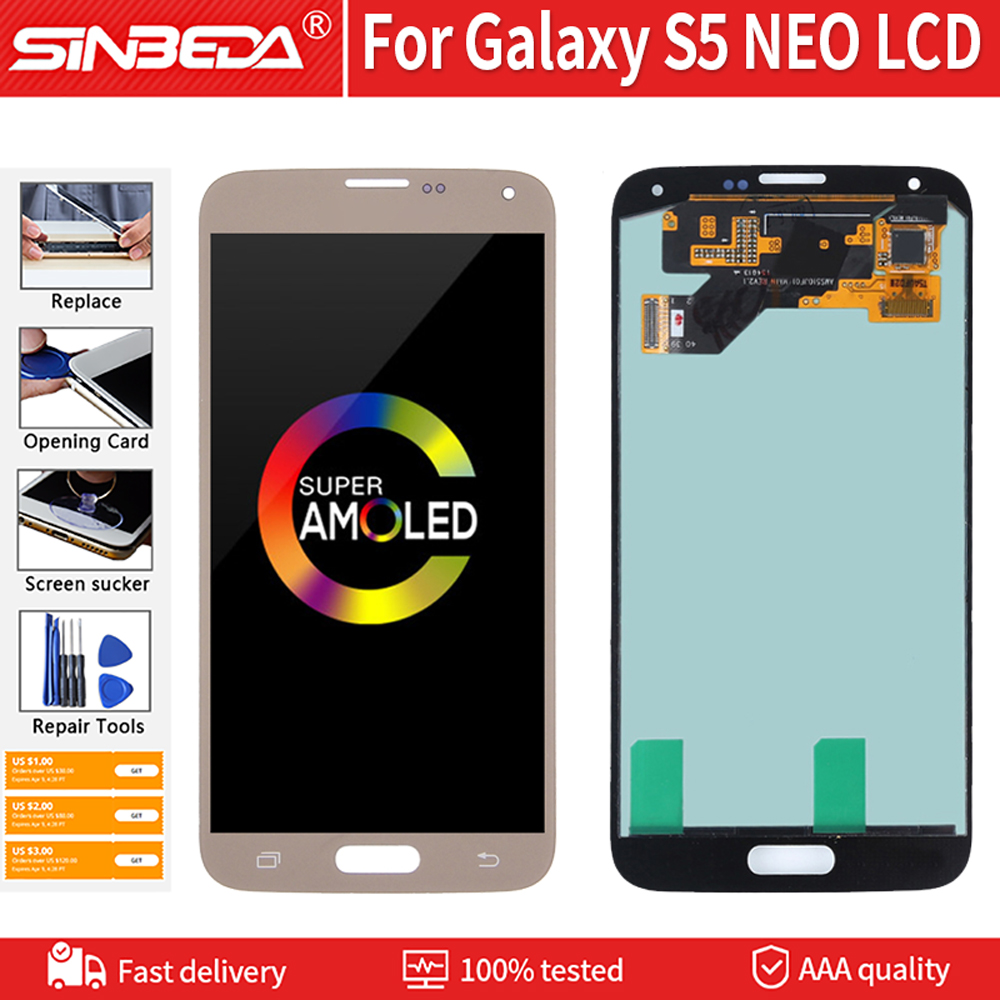 """5.1"""" Super AMOLED For SAMSUNG Galaxy S5 NEO LCD Digitizer Display Touch Screen For Samsung S5 NEO G903 Display SM-G903M G903F(China)"""
