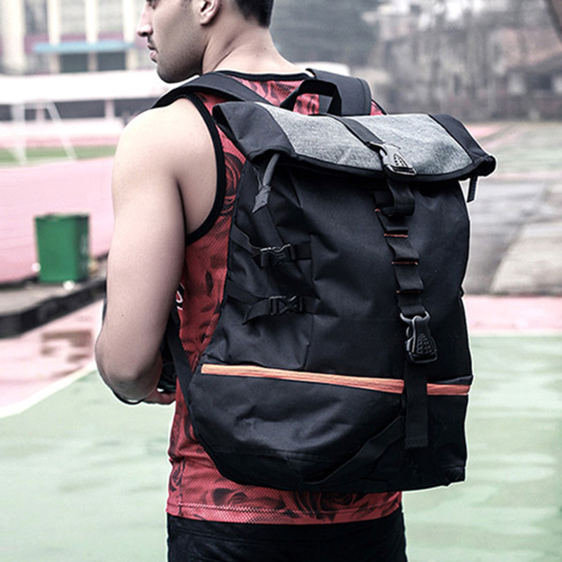 Outdoor Sport Training Hiking Backpack Men Large Capacity Basketball Backpack Rugby Double Shoulder Bag Laptop Rucksack Pack