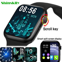 2021 HW22pro Smart Watch Men Women Split Screen Display Smartwatch Body Temperature Monitor Bluetooth Call For Android IOS IWO