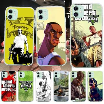 PENGHUWAN Hot Grand Theft Auto GTA 5 Newly Arrived Black Cell Phone Case for iPhone 11 pro XS MAX 8 7 6 6S Plus X 5S SE XR cover image