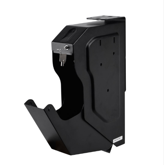 Security Guns Box Gun Safes Fingerprint And Spare Key Lock Pistol Safe Cold-rolled Steel  Fingerprint Strongbox For Desk Cabinet