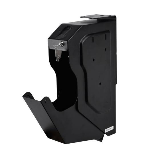 Security Guns Box Gun Safes Fingerprint And Spare Key Lock Pistol Safe Cold-rolled Steel  Fingerprint Strongbox For Desk Cabinet