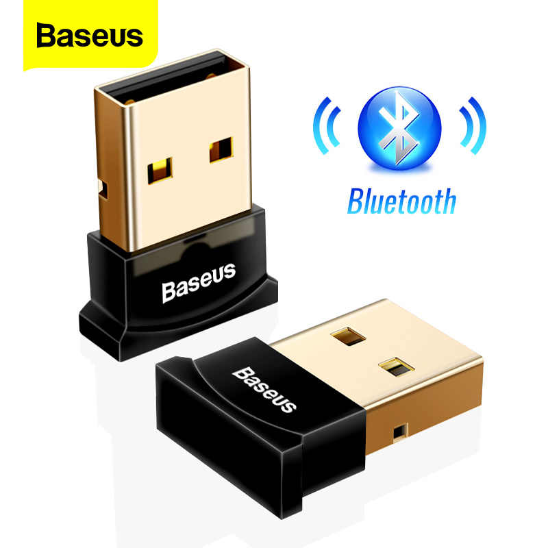 Baseus USB Bluetooth Adapter Dongle Per Il Computer PC PS4 Mouse Aux Audio Bluetooth 4.0 4.2 5.0 Altoparlante di Musica Trasmettitore Ricevitore