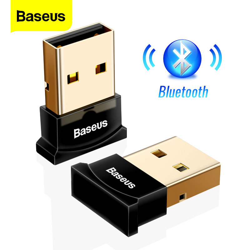 Baseus USB Bluetooth Adapter Dongle Per Il Computer PC PS4 Mouse Aux Audio Bluetooth 4.0 4.2 5.0 Altoparlante di Musica Trasmettitore Ricevitore title=