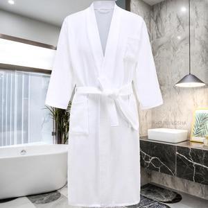 Image 2 - Star Hotel peignoir de bain 100% coton pour hommes et femmes, peignoir chaud, grande taille, Kimono, vêtements de nuit en éponge pour hiver