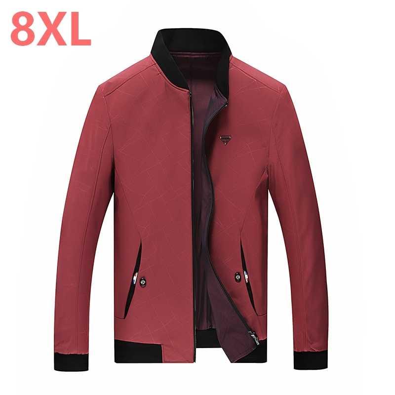 Neue große größe 9XL 8XL 7XL 6XL Frühling Herbst Männer Jacken Solide Fashion brand Mäntel Männliche Beiläufige Dünne Jacke Männer outerdoor