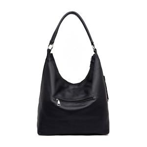 Image 4 - Fashion Green Suede & PU Leather Female Shoulder Bags Women Leather Handbag Designer Large Ladies Hobos Bag For Mother Hand Bags
