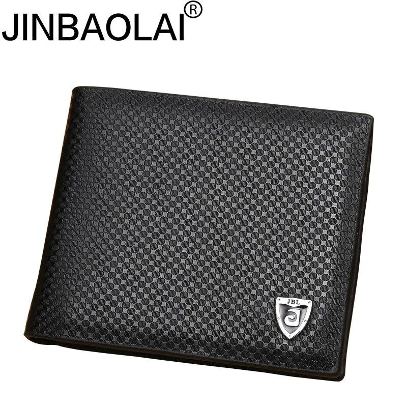New PU Leather Wallet Men Wallets Luxury Brand Clutch Wallet Brown Money Clip Men's Leather Wallet Male Purse Cuzdan JINBAOLAI