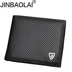 Nova carteira de couro do plutônio dos homens carteiras marca luxo carteira de embreagem marrom clipe de dinheiro carteira de couro masculino cuzdan jinbaolai