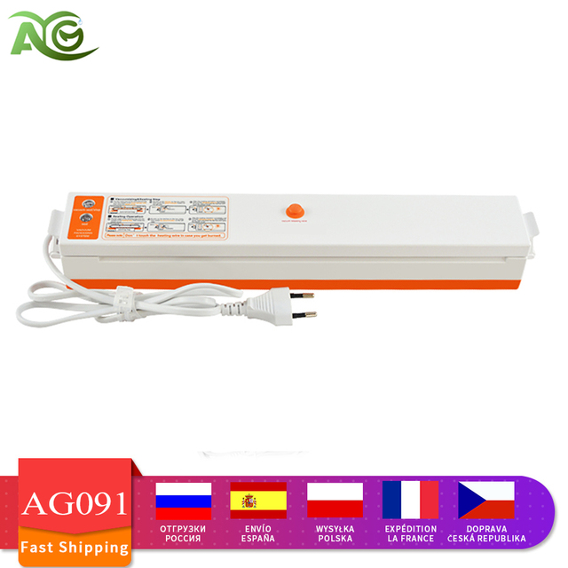 AG Vacuum Sealer Packaging bags Machine 220V/110V Household Food Vacuum Sealer Film Sealer Vacuum Packer Including 10Pcs 1