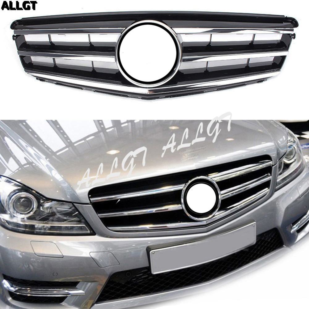 1PC Car Front Upper <font><b>Grill</b></font> Bumper Grille fit For Mercedes <font><b>Benz</b></font> C-Class <font><b>W204</b></font> 2008 2009 2011 2012 2013 2014 image