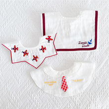 Baby Bibs Korean Towel-Accessories Pocket Gauze Thin Saliva Drooling Breathable Cotton
