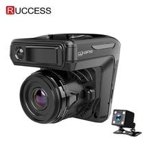New 3 in 1 Car DVR Dash cam GPS 1296P Car Camera Dual Lens Video Recorder Dashcam Auto Registrator Anti Radar Russia Voice