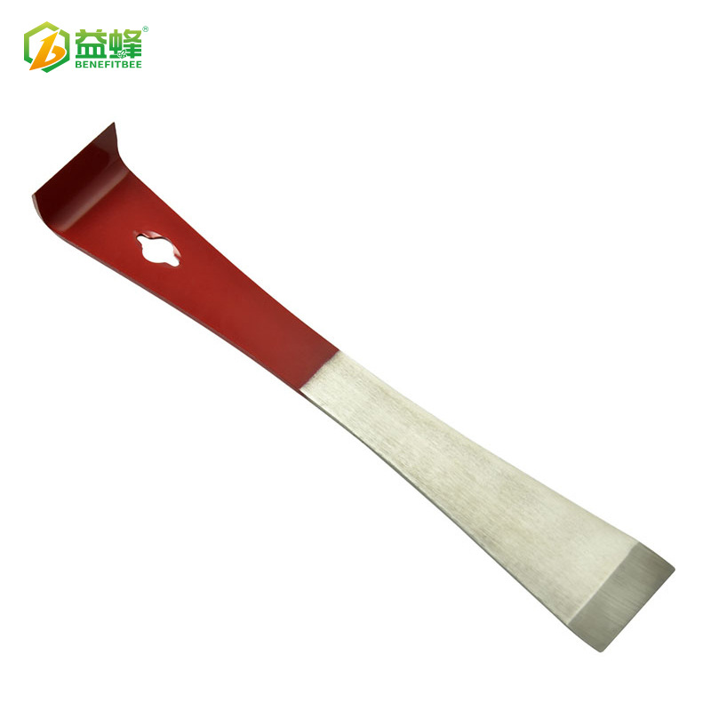 Agricultural Tool Beekeeping Eqiupment Wholesale Semi-Red Paint Plain Top Stainless Steel Hive Tool High Quality Triple Use Beek