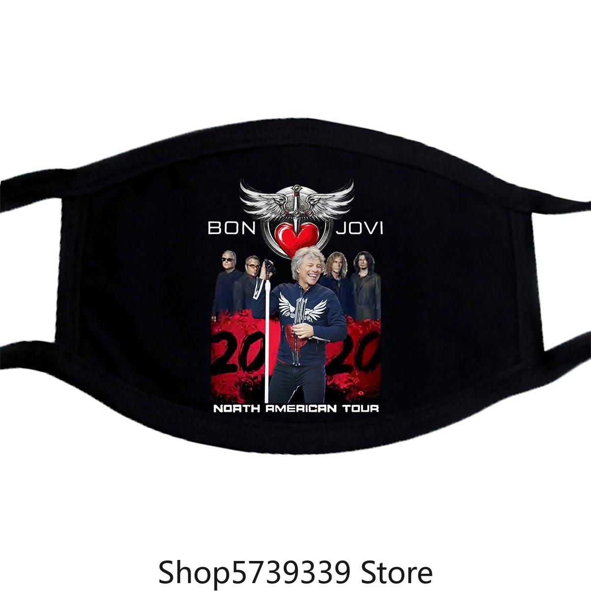 Bon Jovi And Bryan Adams 2020 Concert Tour Cotton Mask Washable Reusable Mask