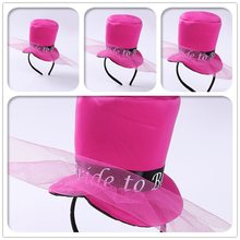 Mesh Top Hat Headband Bride To Be Headwear for Bachelorette Hen Party Supplies Decoration Gift Bridal Shower Funny Prop(China)