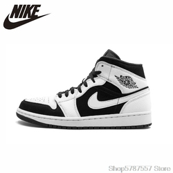 Nike Air Jordan 1 Men Basketball Shoes Comfortable Lightweight Outdoor Sports Sneakers New Arrival #554724-113/BQ6931-007