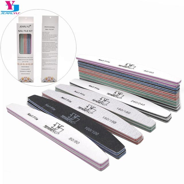 10Pcs Per Box Professional Nail File Kit Manicure Pedicure Nail Buffer Sandpaper Washable Nail Care Art Tool 80 100 150 180 240 1